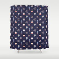 science Shower Curtains featuring Science by Wharton