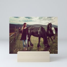 Friesian Morning Mini Art Print