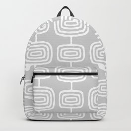 Mid Century Modern Atomic Rings Pattern 731 Gray Backpack