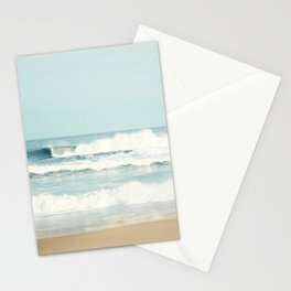Ocean Photography, Calming Sea Photo, Blue Waves Seascape Photograph, Beach Print Stationery Cards