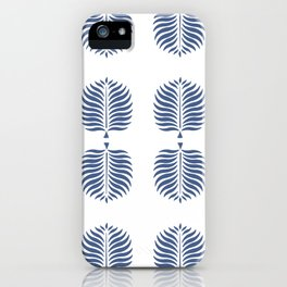 TROPICAL PALMS . BLUE iPhone Case