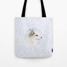 Polar Fox Profile Tote Bag