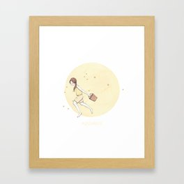 Aquarius Framed Art Print