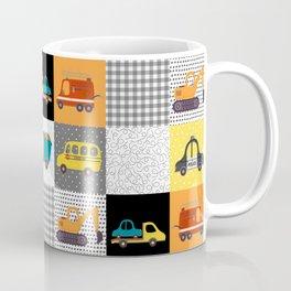 Patchwork Cars Trucks Kids Quilt Pattern Coffee Mug