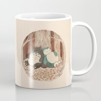 snorlax Mugs featuring Best Friends Forevah by Najmah Salam