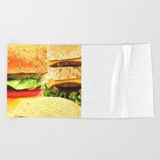 Burgers Beach Towel
