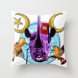 Rhino Trophy head Throw Pillow
