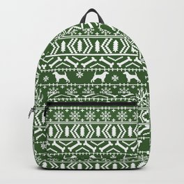 Beagle fair isle christmas green and white dog breed holiday gifts beagles Backpack