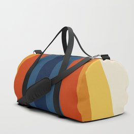 Bright 70's Retro Stripes Duffle Bag