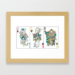 Bioshock Playing Card collection (Big Daddy/Splicer/Little Sister/Andrew Ryan/Delta) Framed Art Print