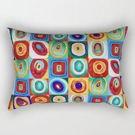 Colorful circles tile Rectangular Pillow