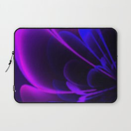Stylized Half Flower Indigo Laptop Sleeve