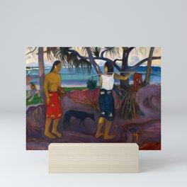 Under the Pandanus II by Paul Gauguin Mini Art Print