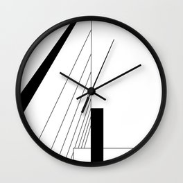 Minimalist Line Drawing of Serpentine Pavilion by Jean Nouvel Wall Clock