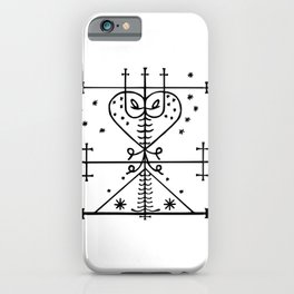 Maman Brigitte Veve Spirit World Blessings Voodoo Goddess iPhone Case