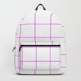 Graph Paper (Magenta & White Pattern) Backpack