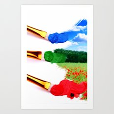 PAINT LANDSCAPE  Art Print