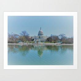 US Capitol Art Print