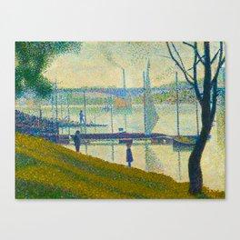 Bridge at Courbevoie Georges Seurat - 1886-1887 Impressionism Modern Pointillism Oil painting Canvas Print