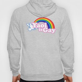 Yaoi is Gay (High Contrast Version with T-shirts) Hoody