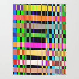 inclined coloured stripes Poster