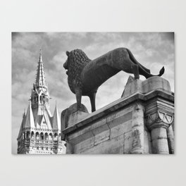 The Brunswick Lion and Town Hall Canvas Print