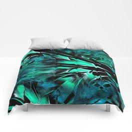 Jungle Trip (teal) Comforters