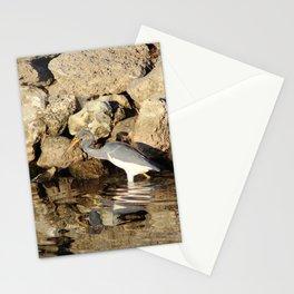 Heron Chasing Fish Stationery Cards