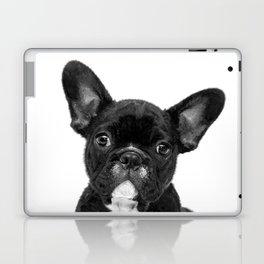 Black and White French Bulldog Laptop & iPad Skin
