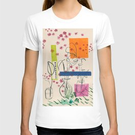 Japanese canteen -line drawing leaves #7 T-shirt