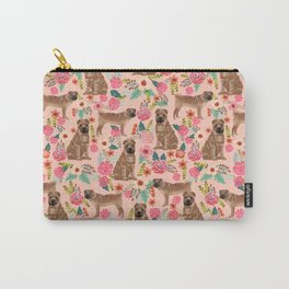 Sharpei dog breed florals dog pattern for dog lover by pet friendly sharpeis Carry-All Pouch