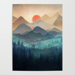 Wilderness Becomes Alive at Night Poster
