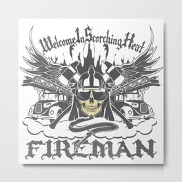 Welcome to Scorching Heat Metal Print