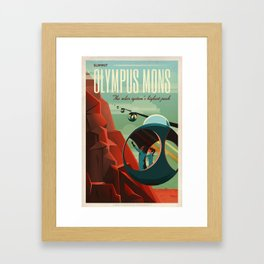 SpaceX Mars tourism poster / Olympus Mons Framed Art Print