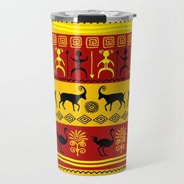 African pattern with animals. Travel Mug