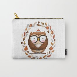 Fall Ready Owl- Illustration Carry-All Pouch