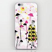 mushroom iPhone & iPod Skins featuring Mushroom by Emilie Ramon