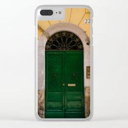 Roman Door XVII Clear iPhone Case