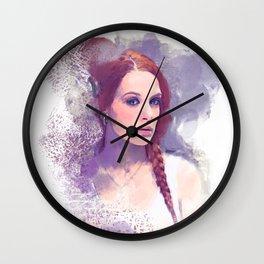 Purple Portrait Dream Wall Clock