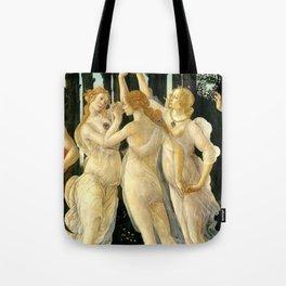 "Sandro Botticelli ""Spring"" The Three Graces (1) Tote Bag"