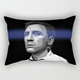 DANIEL CRAIG - BLUE EYES  Rectangular Pillow