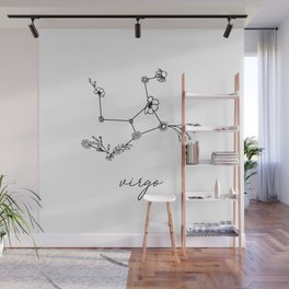 Virgo Floral Zodiac Constellation Wall Mural