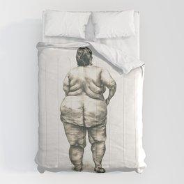 mujer en la ducha Comforters