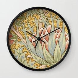 Modern poster-William Morris-Vegetable print 2. Wall Clock