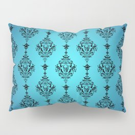Skulls and Bats and Damask, Oh My! Pillow Sham