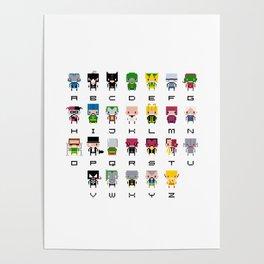 Pixel Supervillain Alphabet 2 Poster