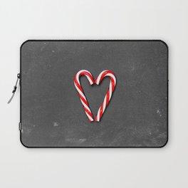 Love Peppermint Heart (Color) Laptop Sleeve
