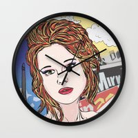 france Wall Clocks featuring France by • PASXALY •