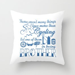 Cycling Brother Throw Pillow