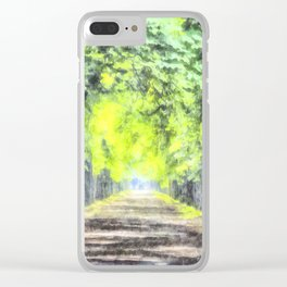 Forest Path Watercolour Clear iPhone Case